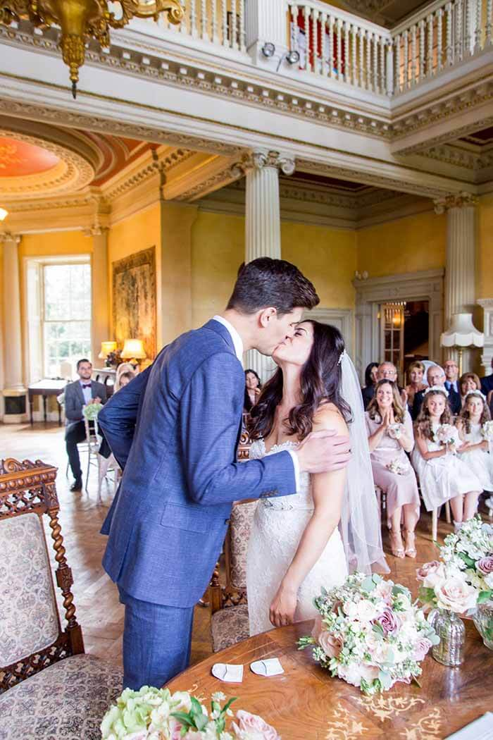 Bride and Groom Kissing as Husband and Wife | Hertfordshire Wedding Photographer | Philippa Sian Photography