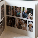 matted wedding album Philippa sian photography