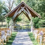 Millbridge Court Arbor Outdoor Ceremony Lilac & Grey table linen Summer Wedding Millbridge Court Surrey