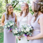 Lilac TFNC Bridesmaids Suzanne Neville Wedding Dress Lilac & Grey table linen Summer Wedding Millbridge Court Surrey