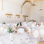 Lois Chairs Light airy wedding reception Lilac & Grey Summer Wedding Millbridge Court Surrey