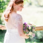 Suzanne Neville Dress Lilac & Grey Summer Wedding Millbridge Court Surrey