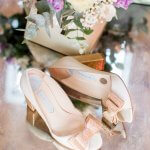 Charlotte Mills Bridal Shoes Becky Rose Lilac & Grey table linen Summer Wedding Millbridge Court Surrey