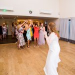 catching the bouquet Lilac & Grey Summer Wedding Millbridge Court Surrey