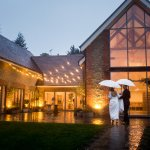 rainy wedding mill bridge court