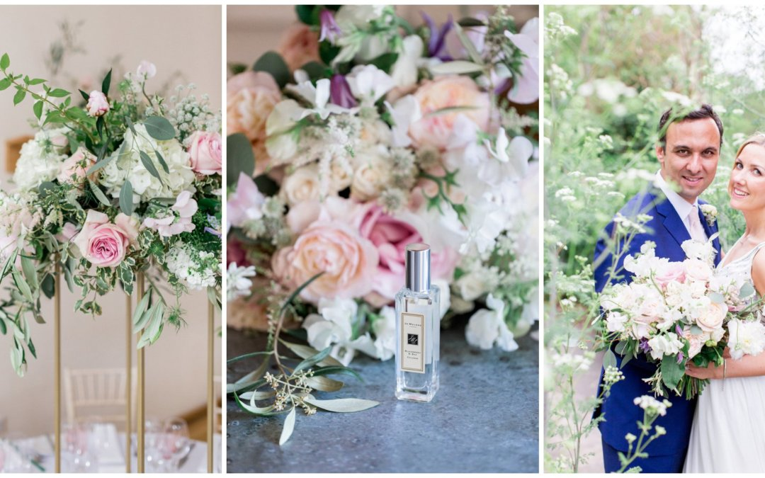 Romantic Blush Wedding at Millbridge Court
