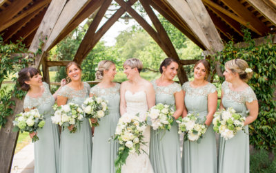 Floral Hoop Wedding Millbridge Court