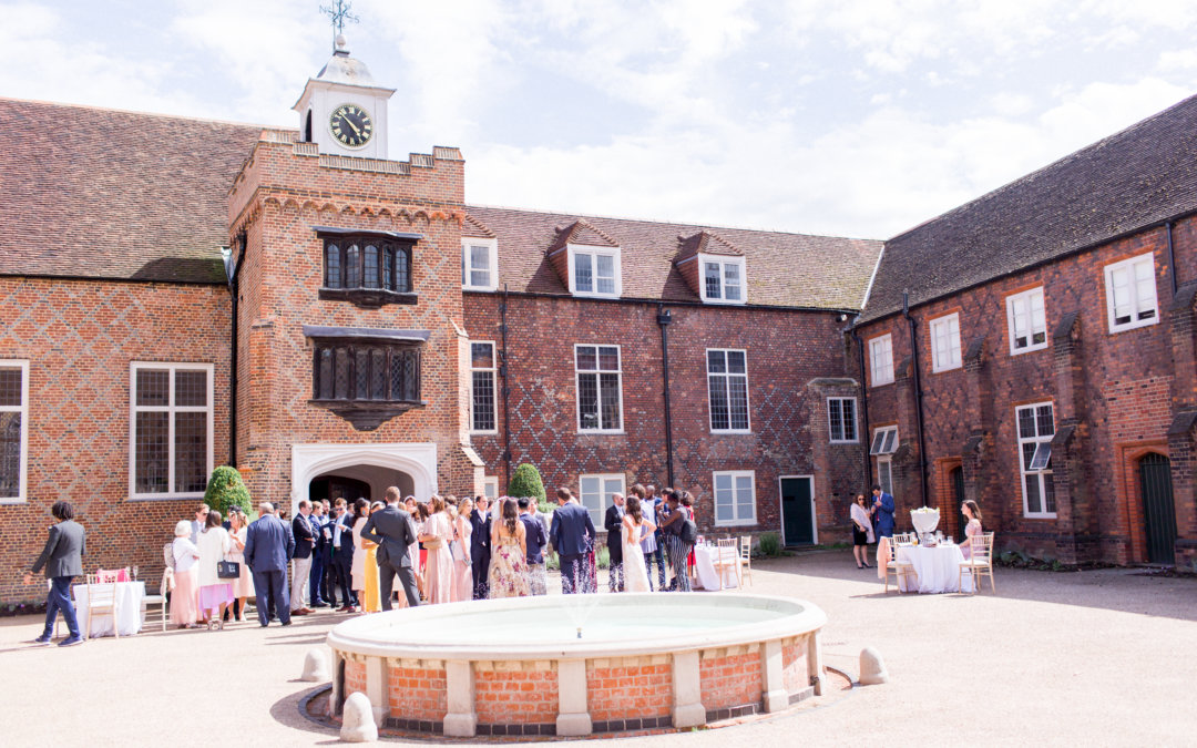 Coral & Green Wedding at Fulham Palace